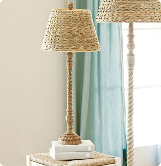Tasseau Table Lamp with Seagrass Shade