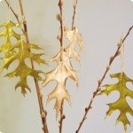 West Elm Metallic Leaf Ornament Knockoff Copy Gold Autumn Thanksgiving Decoration