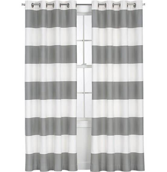 Dark Purple Blackout Curtains Gray and White Striped Duvet