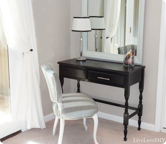 black-vanity-table