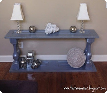 console table from doors