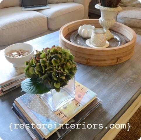 diy faux zinc tabletop