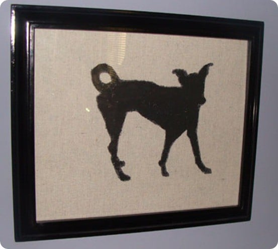 dog silhouette artwork