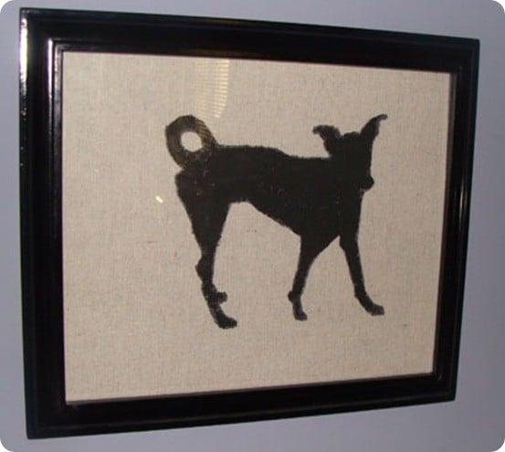 dog silhouette artwork