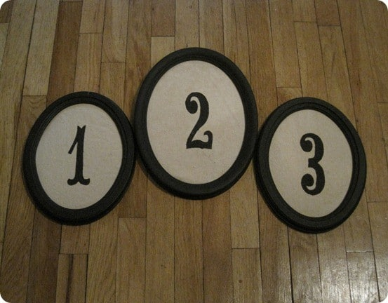 framed number art