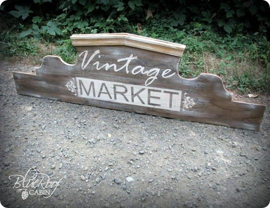 how to make a vintage market sign