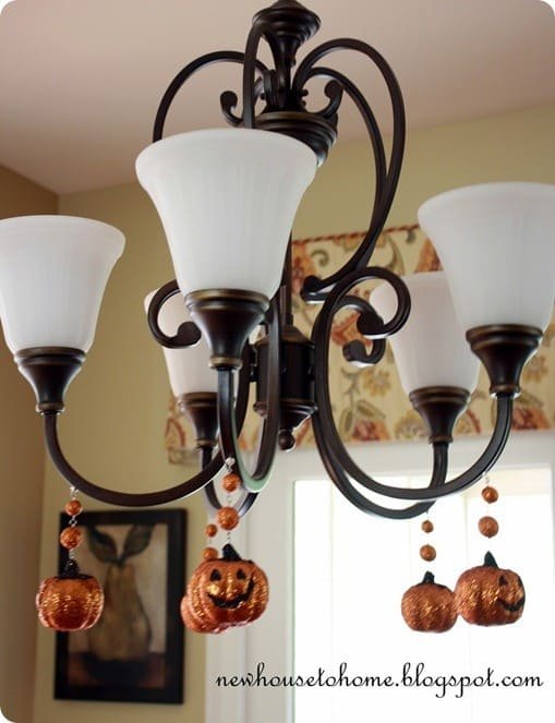 magnetic chandelier pumpkins