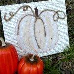 Monochromatic Pumpkin Art