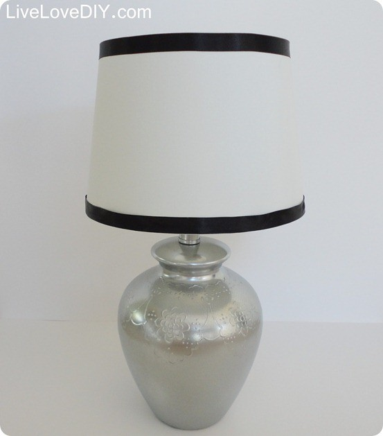 pb inspired silver lamp