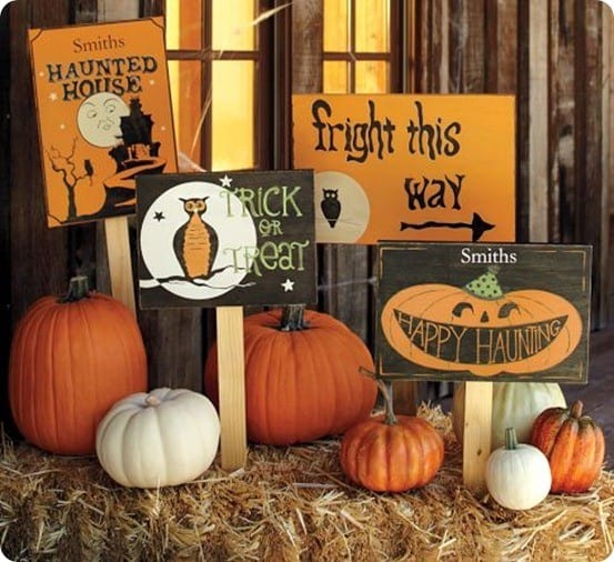 Painted Wooden Halloween Signs