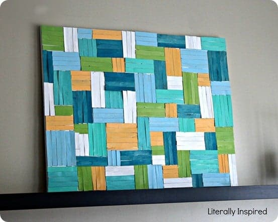 popsicle stick wood art
