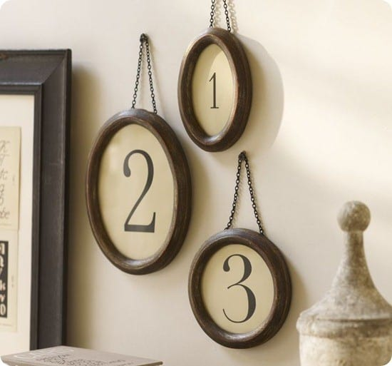 pottery barn framed numbers