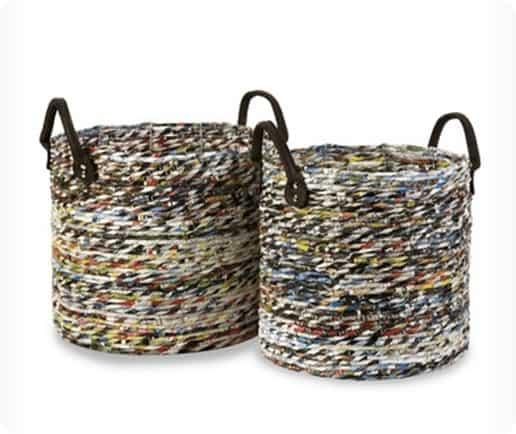 recycled magazine basket