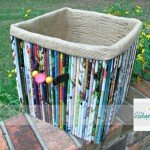 Recycled Magazine Storage Box