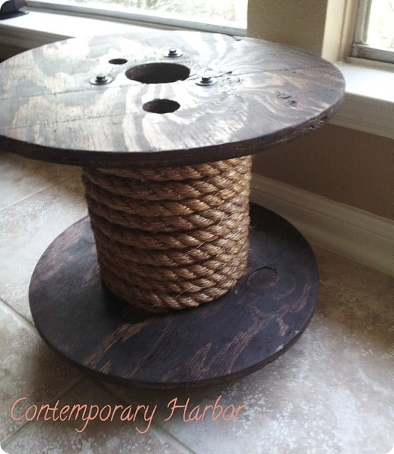 Image gallery rope spool for Large wooden spools used for tables