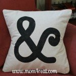 stenciled ampersand pillow