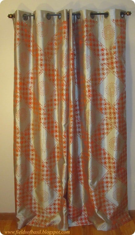 Stenciled Curtains Knockoffdecor Com