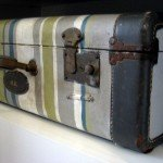 Striped Vintage Suitcase