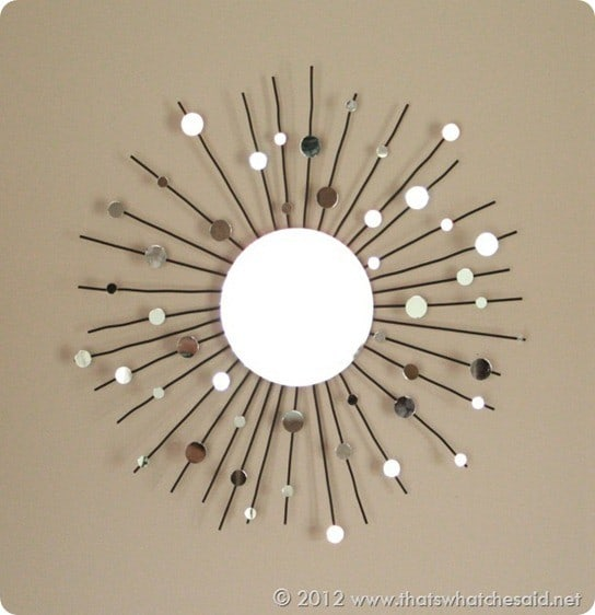 sunburst mirror from candle holder