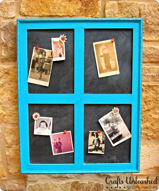 DIY Home Decor | Love this idea for turning an old window into a cork board like one from Pottery Barn!