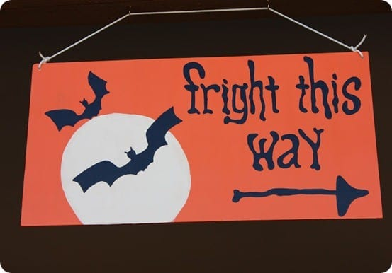 wood halloween sign