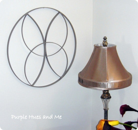 wooden wall art from embroidery hoops