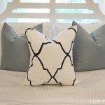 Sharpie Stenciled Pillow