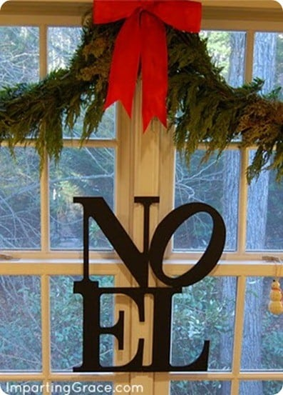 Noel christmas sign