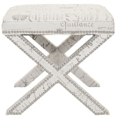 Safavieh Mercer French Writing Square Ottoman