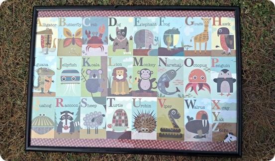 Framed Alphabet Art