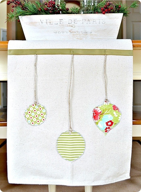 ballard inspired hanging ornament table runner
