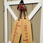 Wooden Christmas Door Tags