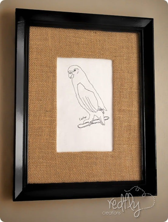 Burlap Matting Makes Art and Photo Frames Extra Special ...
