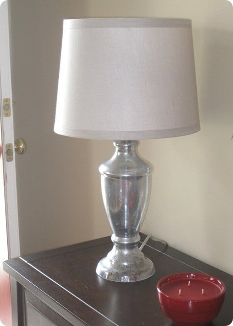 diy mercury glass lamp