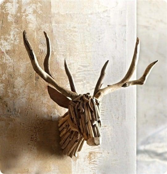 driftwood deer mount