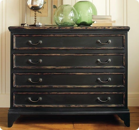 black distressed dresser. Black Bedroom Furniture Sets. Home Design Ideas