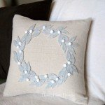 Felt Wreath Pillow