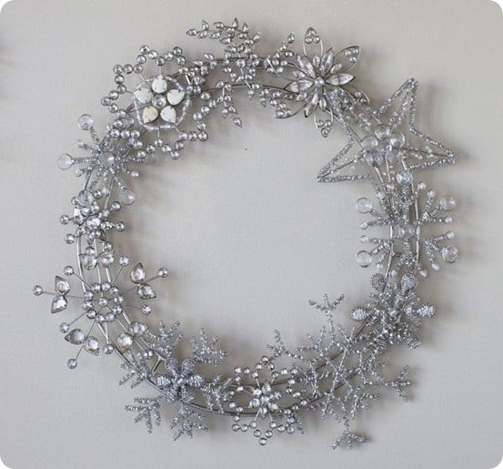 jeweled crystal wreath