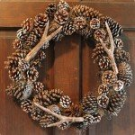 knock off faux antler wreath