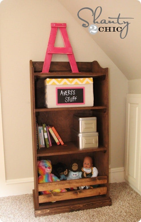 pottery barn kids inspired bookshelf