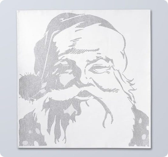 pottery barn santa art
