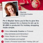 Wayfair Pin Your Wish List: Holiday Shopping Made Easy