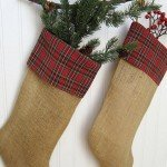 Burlap and Plaid Stockings
