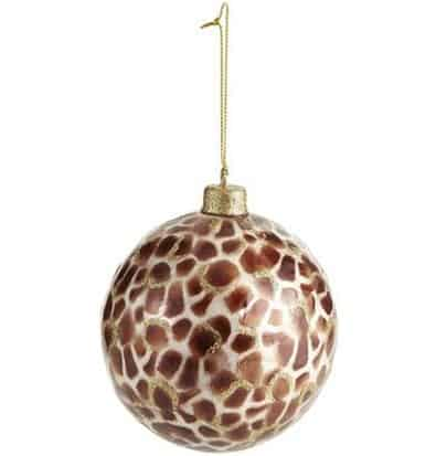 Cheetah Capiz Ornament Ball
