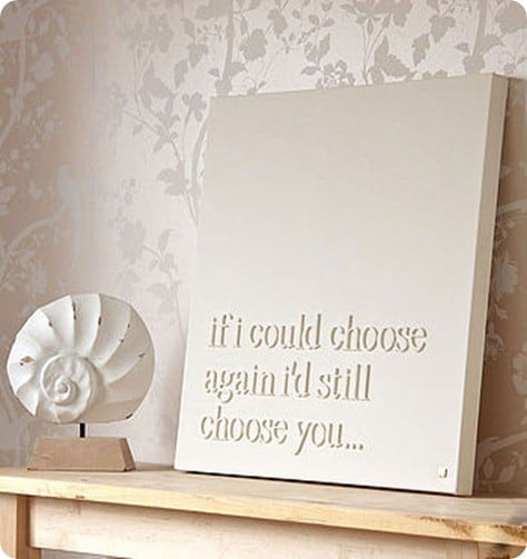 Personalised'If I Could Choose Again' Canvas
