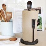 Fork and Spoon Paper Towel Holder