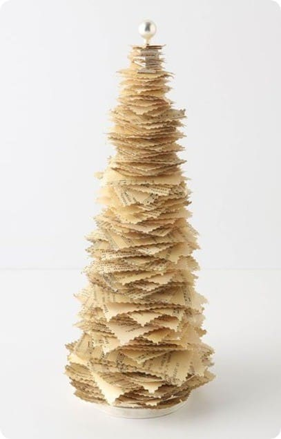 anthropologie paper christmas tree