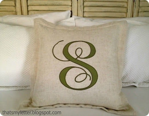 diy applique pillow