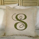 Monogram Applique Pillow