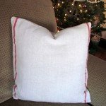 diy grain sack pillow cover from ikea dish towel